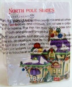Dept 56 North Pole Village 2014 JINGLE & JANGLE'S BELLS #4036545 NRFB and bling
