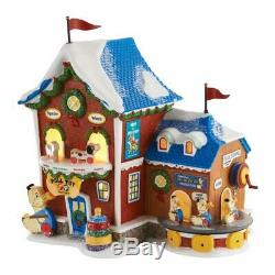 Dept 56 North Pole Village 2016 FISHER PRICE PULL TOY FACTORY #4050962 NRFB
