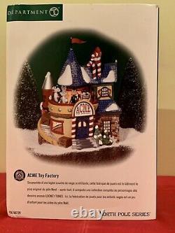 Dept 56 North Pole Village ACME TOY FACTORY #56729 & 2 Acces