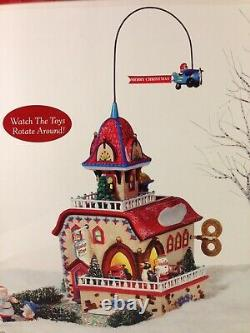 Dept 56 North Pole Village CHECKING IT TWICE WIND UP TOYS Gift Set 56.56757 New