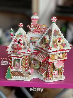 Dept 56 North Pole Village CHRISTMAS SWEET SHOP new opened box & 2 EXTRA pieces