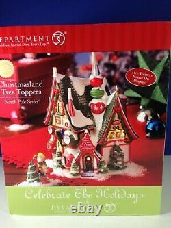 Dept 56 North Pole Village CHRISTMASLAND TREE TOPPERS Set 56.56960 Brand New