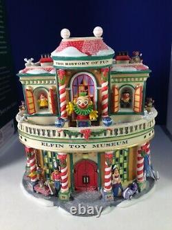 Dept 56 North Pole Village ELFIN TOY MUSEUM Toy Top Spins 56.56959 Brand New