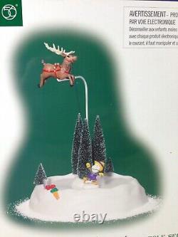 Dept 56 North Pole Village FLIGHT TRAINING Animated 56.57232 Brand New! RARE