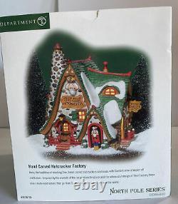 Dept 56 North Pole Village Hand Carved Nutcracker Factory Brand New