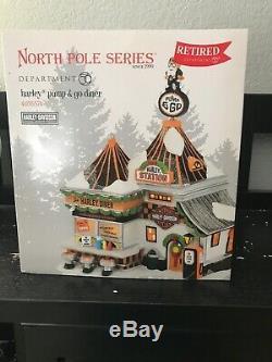 Dept 56 North Pole Village Harley-Davidson Pump & Go Diner 4035574