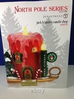 Dept 56 North Pole Village JACK B. NIMBLE CANDLE SHOP 4030719 Brand New