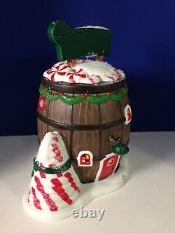 Dept 56 North Pole Village POP'S PEPPERMINT BARREL 4030716 Brand New! RARE