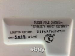 Dept 56 North Pole Village ROBBIE'S ROBOT FACTORY 799998 Brand New