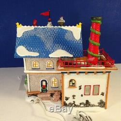 Dept 56 North Pole Village RUBBER DUCK FACTORY #799920 with box Animated! RARE
