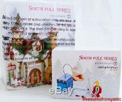 Dept 56 North Pole Village SANTA'S POLAR PLUNGE plus THE WARMING HOUSE 2013 NRFB