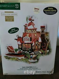 Dept 56 North Pole Village SANTA'S SLEIGH MAKER Collectors Ed Limited Ed #d New