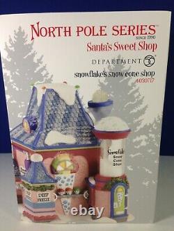 Dept 56 North Pole Village SNOWFLAKE'S SNOW CONE SHOP 4030717 Brand New