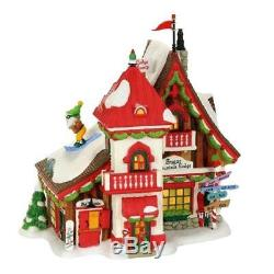 Dept 56 North Pole Village SUGAR MOUNTAIN LODGE #4059383 NRFB paws to rescue