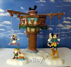Dept 56 North Pole Village SWINGING DISNEY FAB FIVE! Complete, Goofy, Mickey