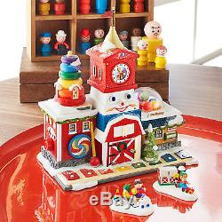 Dept 56 North Pole Village Series Fisher Price Fun Factory 4036546 NEW Lights Up
