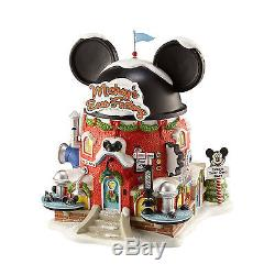 Dept 56 North Pole Village Series Mickey's Ear Factory 4020206 Lit Disney NIB