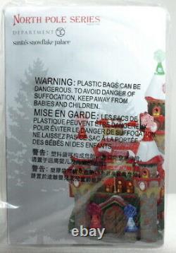 Dept 56 North Pole Village Series Santa's Snowflake Palace Brand New I-3