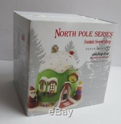 Dept 56 North Pole Village Series Santa's Sweet Shop 2011 Gumdrop Shop