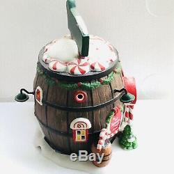 Dept 56 North Pole Village Series Santa's Sweet Shop Pops Peppermint Barrel +BOX