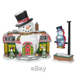 Dept 56 North Pole Village Snowy's Diner Set of 2 #6005429 New 2020 MIB