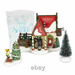 Dept 56 North Pole Village The Fir Farm Building Figurine Set 6000618 Retired