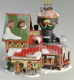 Dept 56 North Pole Village Toot's Model Train Manufacturing NEW