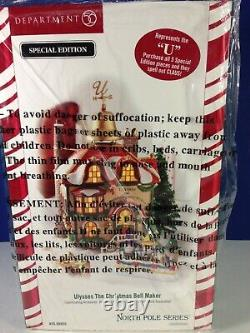 Dept 56 North Pole Village ULYSSES THE CHRISTMAS BELL MAKER 56.56955 Brand New