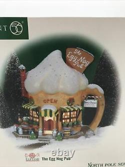 Dept 56 Retired, The Egg Nog Pub #56737, North Pole Series Lighted Village W-1