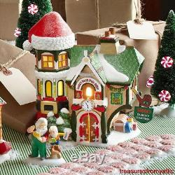 Dept 56 SANTA'S NORTH POLE OFFICE + CHECK AND DOUBLE CHECK New & NRFB Village NP