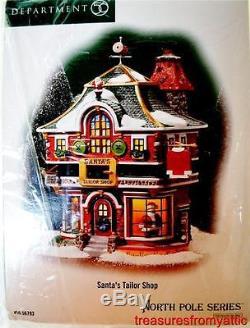 Dept 56 SANTA'S TAILOR SHOP #56793 NRFB Interior Lited Scene North Pole Village