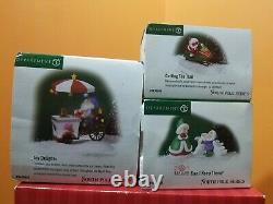 Dept 56 Santa Reindeer Ride Icy Delight Elfland North Pole Christmas Village Lot