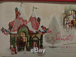 Dept 56 Santa Visiting Center Welcome North Pole Christmas Around World Village