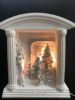 Dept 56 Silhouette Home For Christmas Scene Village Lights Up New Retired RARE