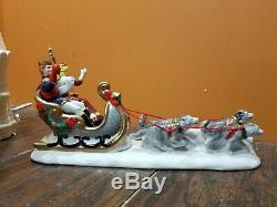 Dept 56 Snow Carnival Ice Palace Castle King & Queen Carriage Christmas Village
