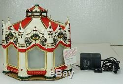 Dept 56 Snow Village THE CARNIVAL CAROUSEL New in Box Plays MUSIC & Rotates