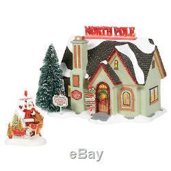 Dept 56 Snow Village The North Pole House Christmas Lane #6005449 New 2020 Set/2