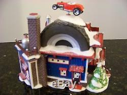 Dept 56North Pole Village Hot Wheels Custom Car Shop 56.56784 Retired