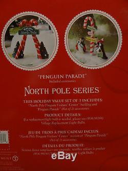 Dept56 805547 North Pole Penguin Parade Visitor Welcome Center Christmas Village
