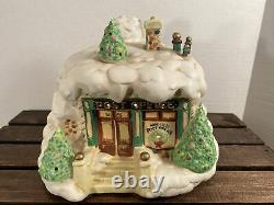 ENESCO North Pole Village The Post Office Musical Night Light We Wish You