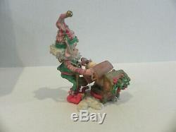 Enesco Mayor Mistletoe Elf Figurine The North Pole Village withbox Rare