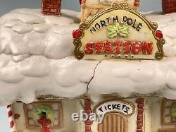 Enesco Musical Night Light THE STATION North Pole Village 1990, 424331