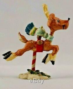 Enesco North Pole Village Donder Reindeer #871846 by Zimnicki MIB 1986 Vintage