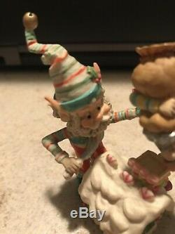 Enesco North Pole Village Elves Frosty & Mason Decorate Bakery House Series Euc