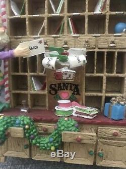 Enesco North Pole Village Elves Post Office Elf Cubby Euc