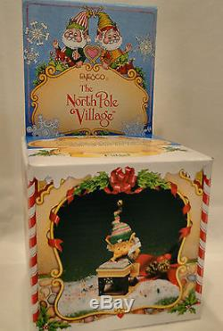 Enesco North Pole Village FIDGET School Desk Books RARE MIB Sandi Zimnicki