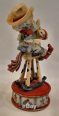 Enesco North Pole Village JIGGLER Rocking Horse 876887 Sandra Zimnicki Figurine