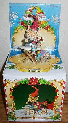 Enesco North Pole Village MARKIE With Ironing Board