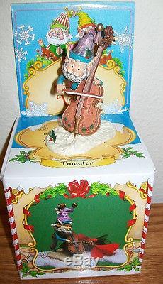 Enesco North Pole Village TWEETER Playing Cello