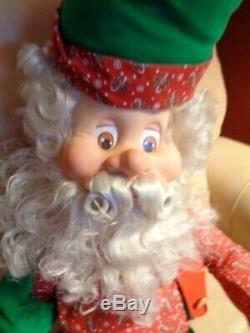 Enesco Sandi Zimnicki North Pole Village Christmas Elf Doll 36 large 1993 HTF